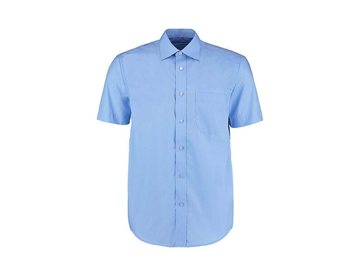 Kustom Kit Classic Fit Business Shirt SSL, Light Blue, XL bedrucken, Art.-Nr. 792113217