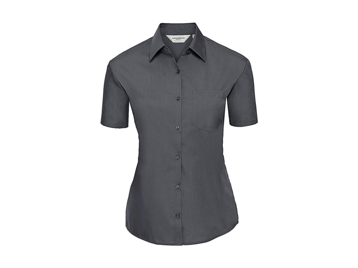 Russell Europe Ladies` Poplin Shirt, Convoy Grey, XS (34) bedrucken, Art.-Nr. 793001272