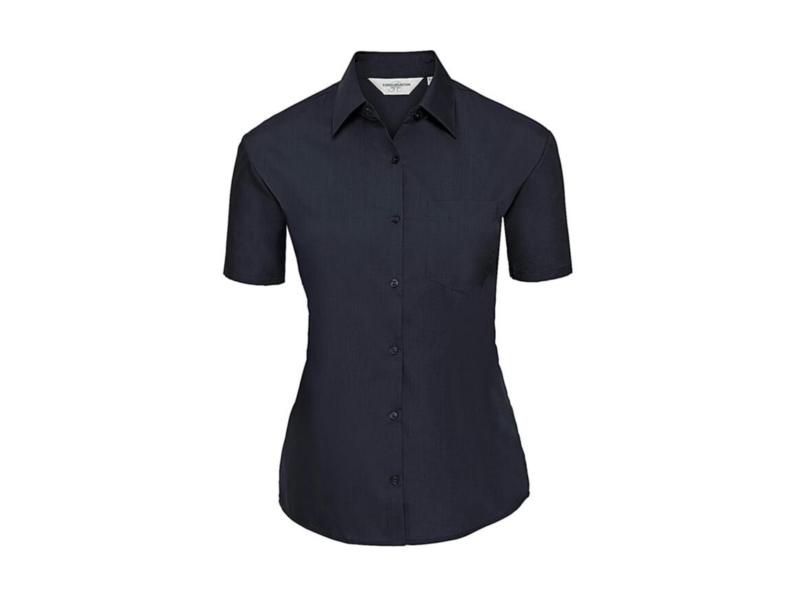 Russell Europe Ladies` Poplin Shirt, French Navy, 4XL (48) bedrucken, Art.-Nr. 793002019