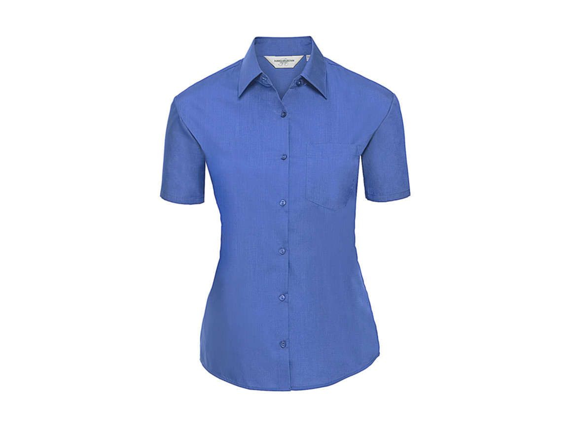 Russell Europe Ladies` Poplin Shirt, Corporate Blue, 4XL (48) bedrucken, Art.-Nr. 793002339
