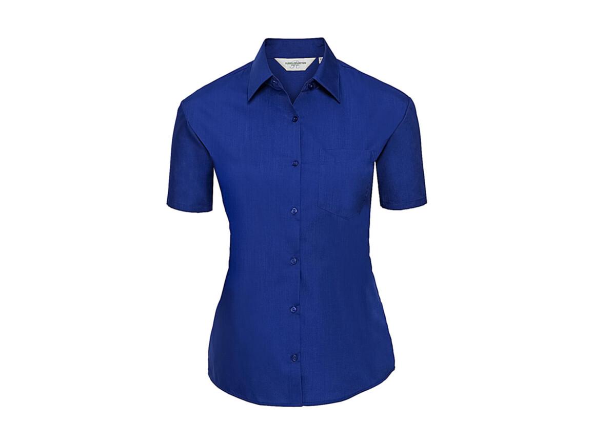 Russell Europe Ladies` Poplin Shirt, Bright Royal, L (40) bedrucken, Art.-Nr. 793003065