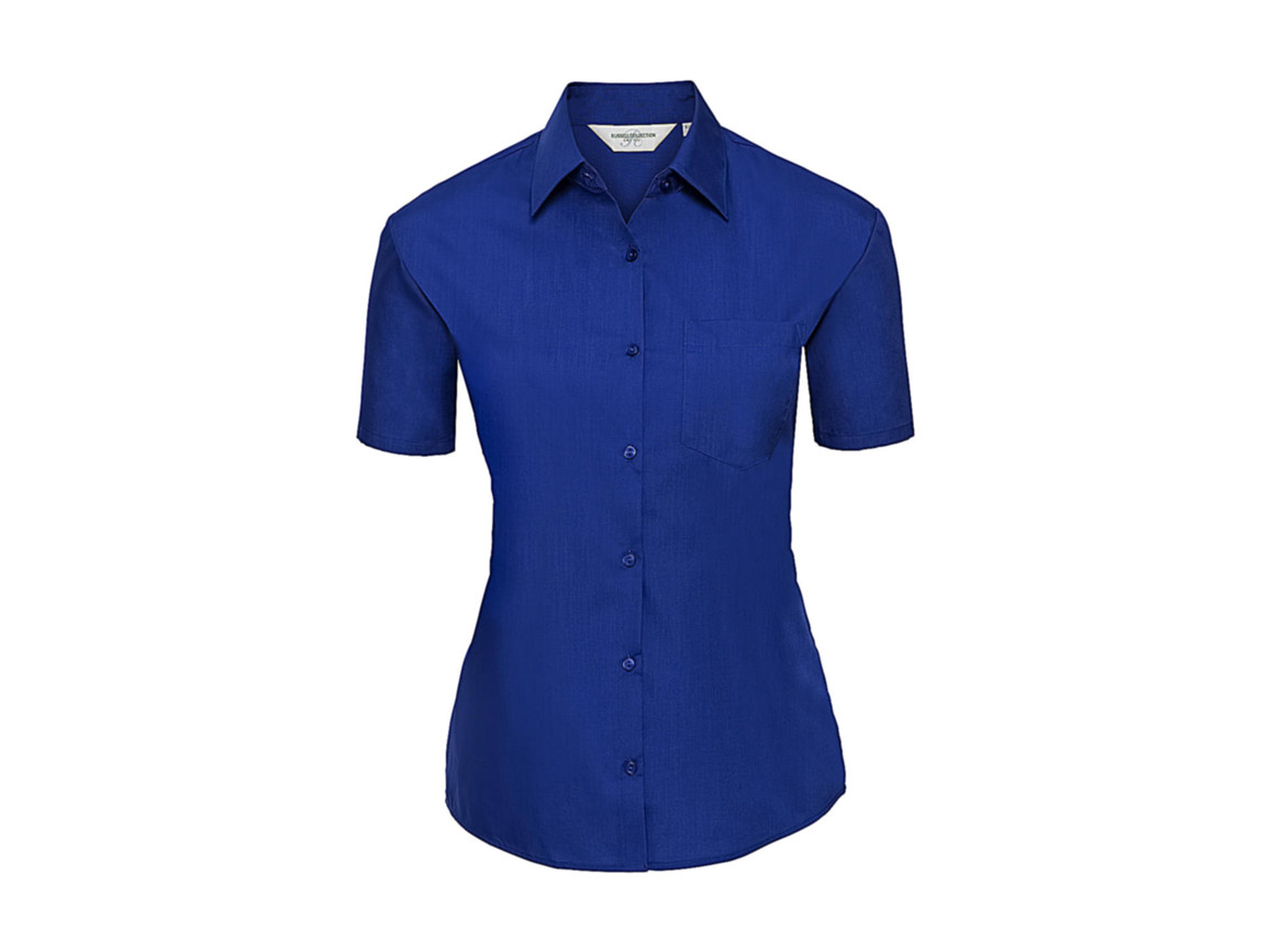 Russell Europe Ladies` Poplin Shirt, Bright Royal, XL (42) bedrucken, Art.-Nr. 793003066