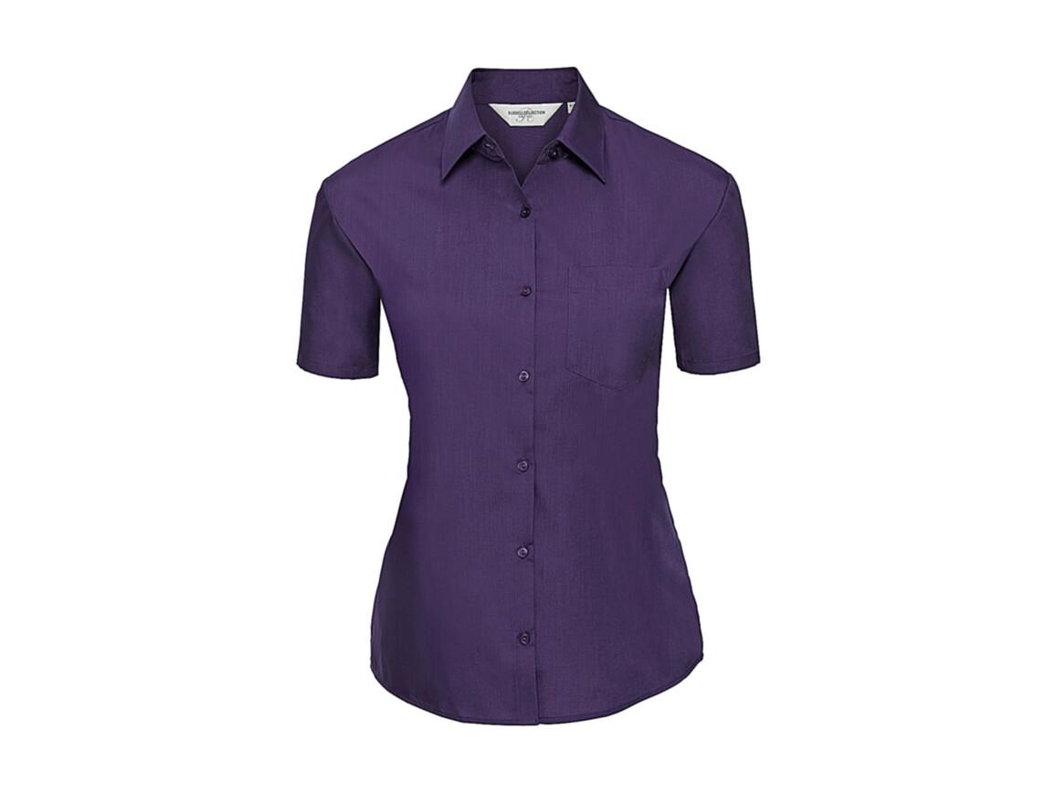 Russell Europe Ladies` Poplin Shirt, Purple, 2XL (44) bedrucken, Art.-Nr. 793003497