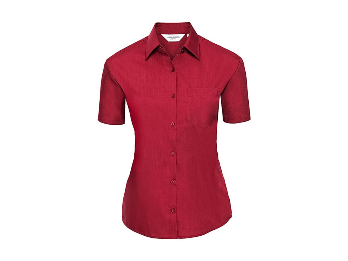 Russell Europe Ladies` Poplin Shirt, Classic Red, 2XL (44) bedrucken, Art.-Nr. 793004017
