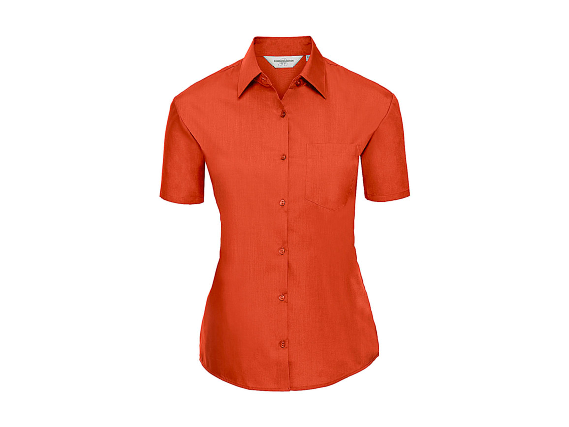 Russell Europe Ladies` Poplin Shirt, Orange, S (36) bedrucken, Art.-Nr. 793004103