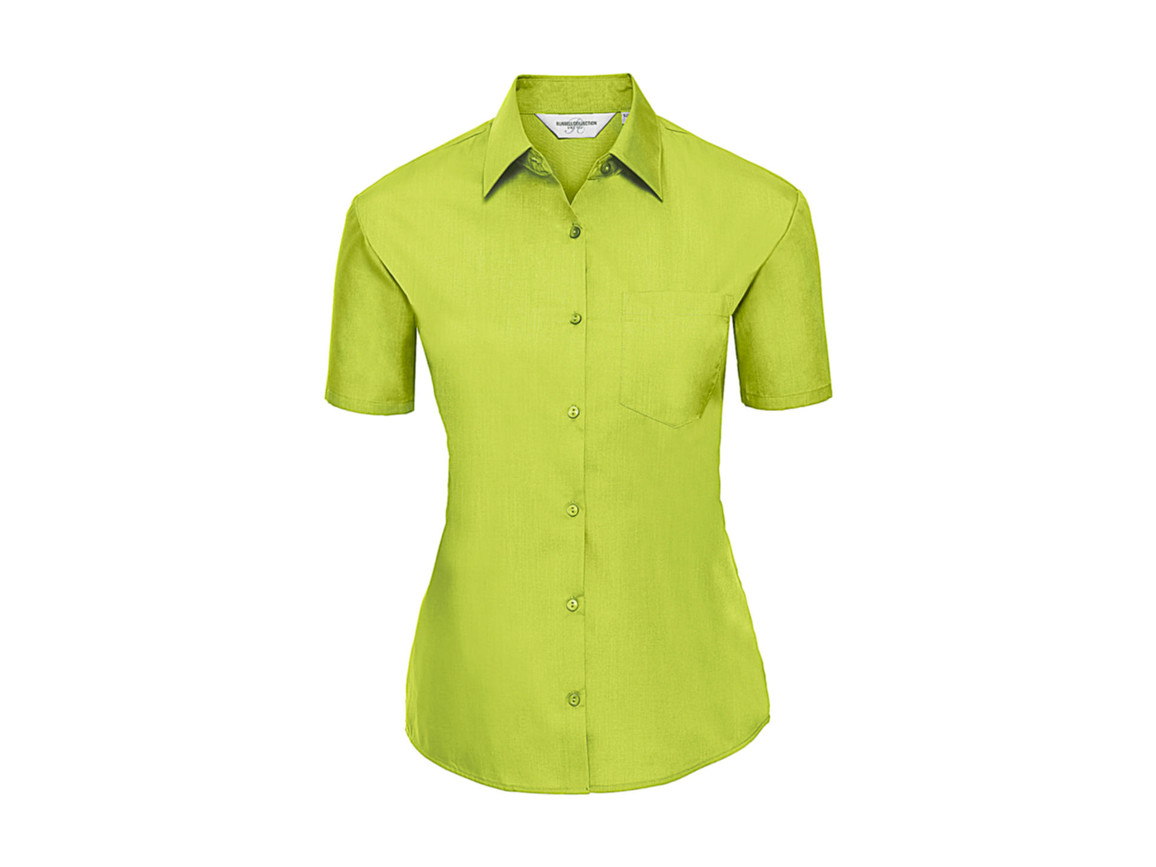 Russell Europe Ladies` Poplin Shirt, Lime, L (40) bedrucken, Art.-Nr. 793005215