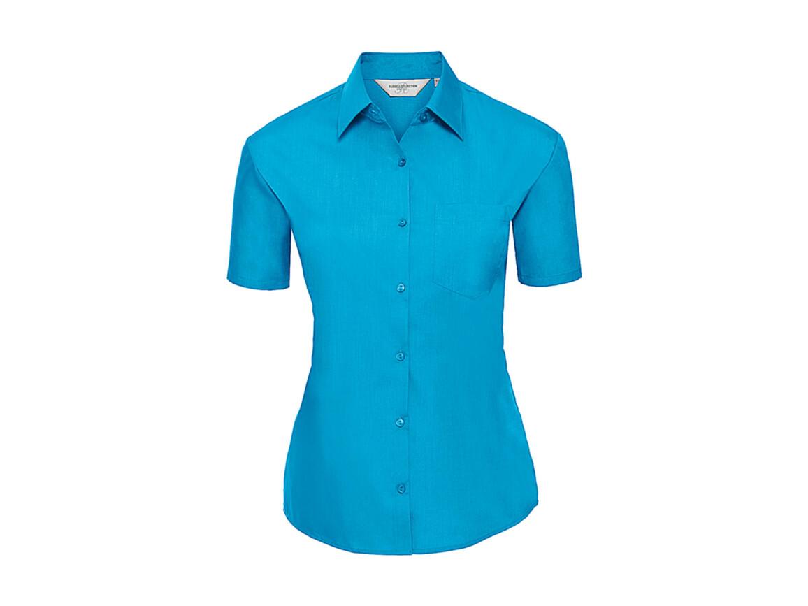 Russell Europe Ladies` Poplin Shirt, Turquoise, L (40) bedrucken, Art.-Nr. 793005365