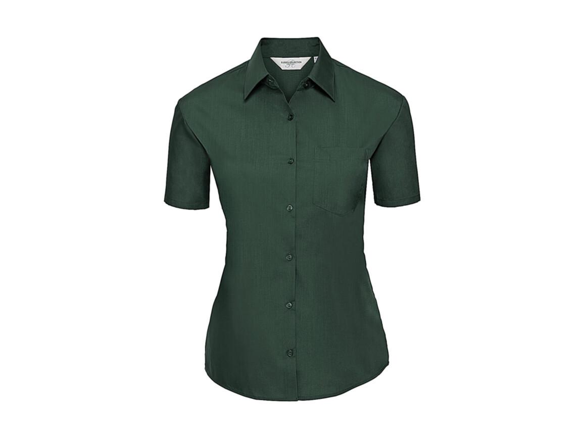 Russell Europe Ladies` Poplin Shirt, Bottle Green, S (36) bedrucken, Art.-Nr. 793005403