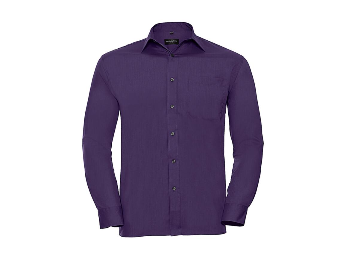 Russell Europe Poplin Shirt LS, Purple, L bedrucken, Art.-Nr. 794003495