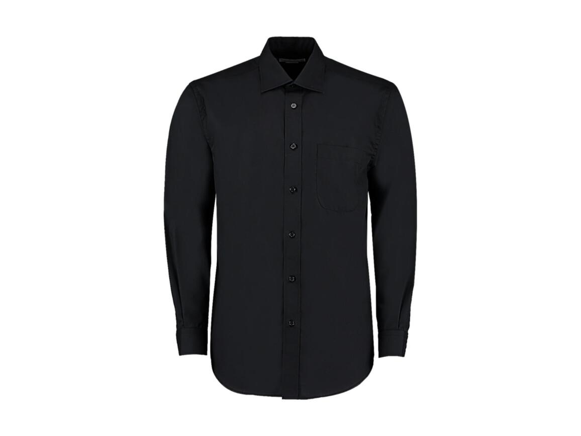 Kustom Kit Classic Fit Business Shirt, Black, M bedrucken, Art.-Nr. 794111013