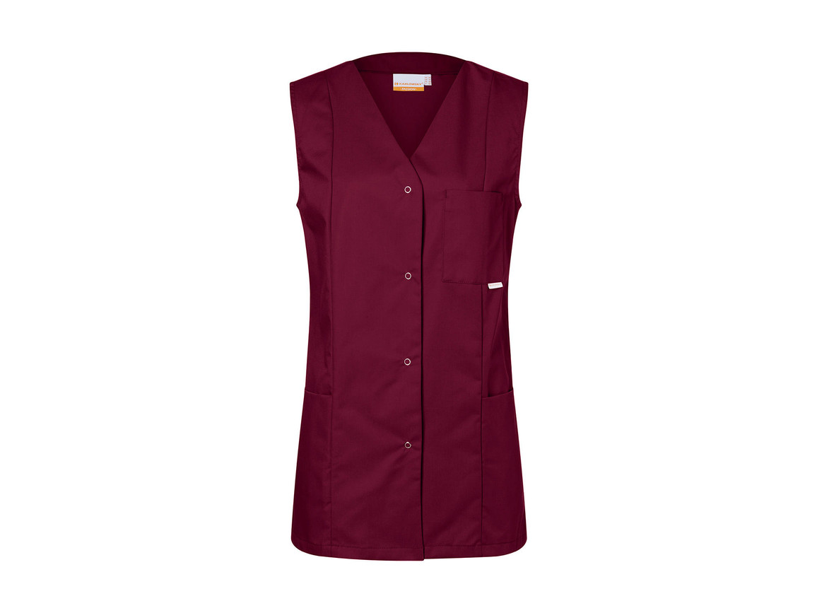 Karlowsky Worksmock Sara, Dark Red, 46 (L) bedrucken, Art.-Nr. 904674306