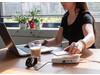 Bamboo 5W Wireless-Ladegerät mit 3 USB-Anschlüssen braun, weiß bedrucken, Art.-Nr. P308.459