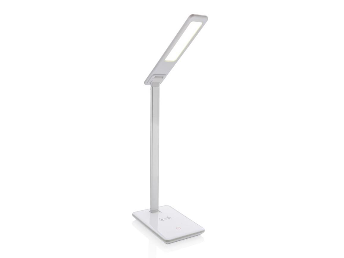 5W Wireless Charging Schreibtischlampe weiß bedrucken, Art.-Nr. P308.783