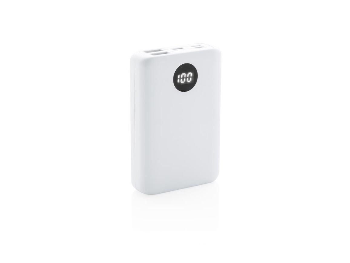 10.000 mAh Pocket Powerbank mit 3-fach Input weiß bedrucken, Art.-Nr. P322.033