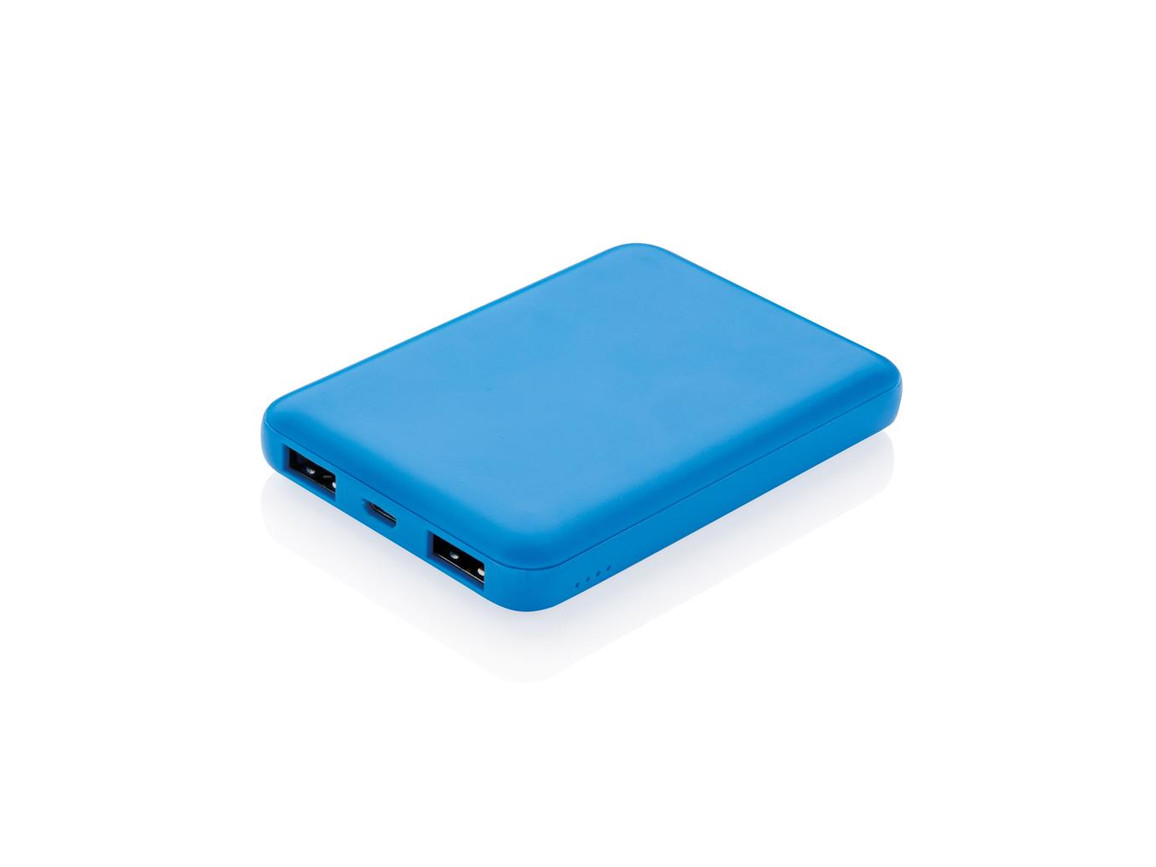 High Density 5.000 mAh Pocket Powerbank blau bedrucken, Art.-Nr. P324.765