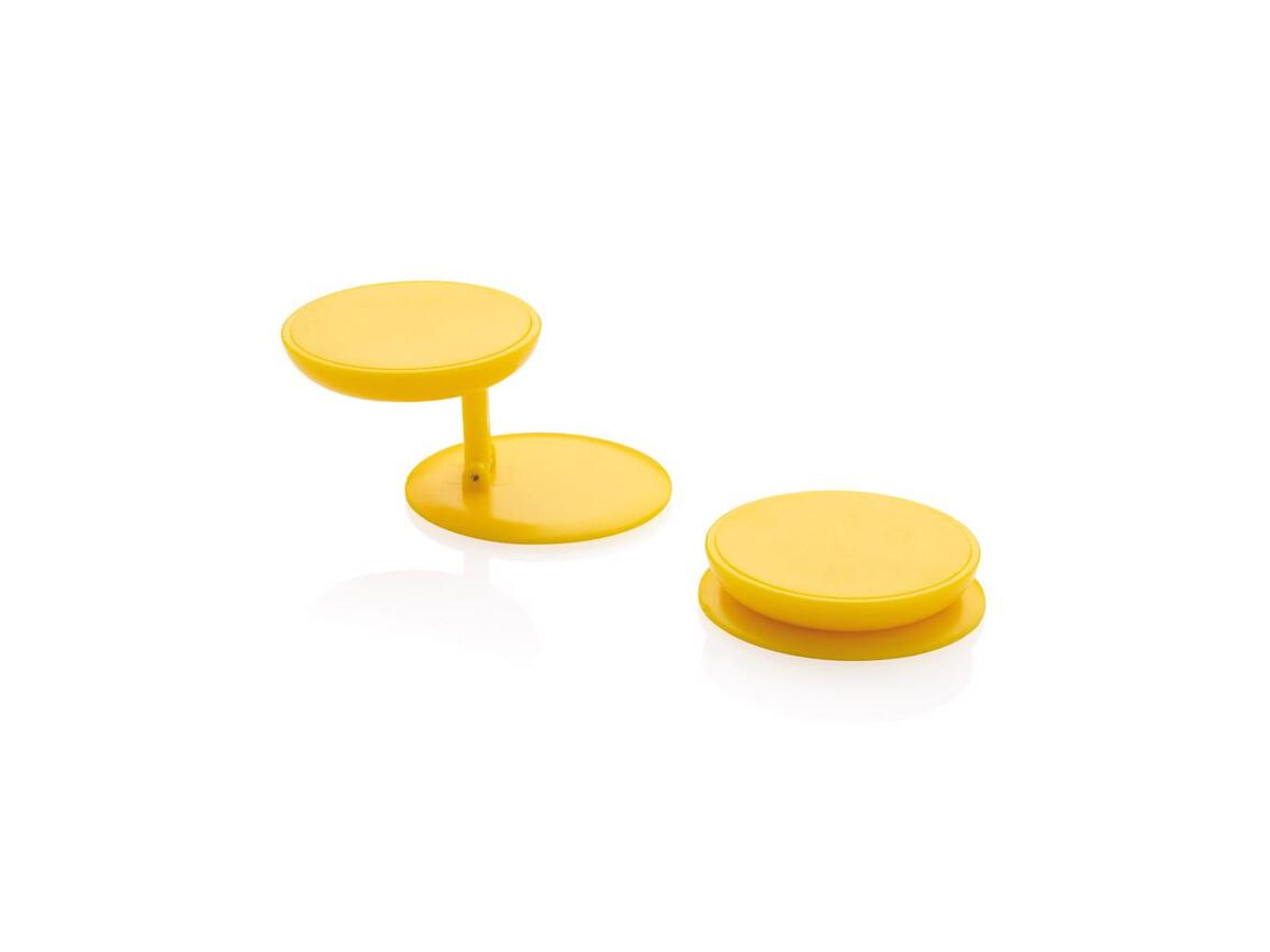 Stick 'n Hold Telefonhalter gelb bedrucken, Art.-Nr. P324.776