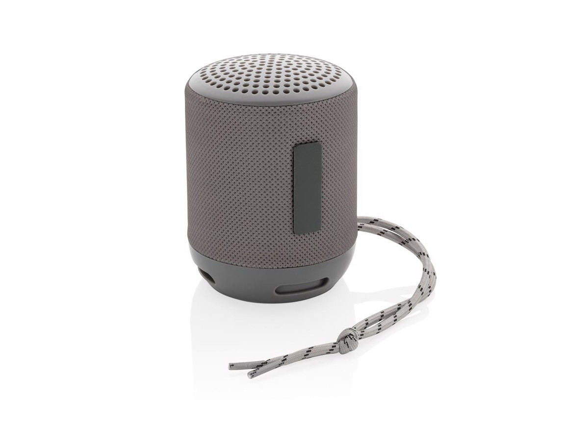Soundboom wasserdichter 3W kabelloser Lautsprecher grau bedrucken, Art.-Nr. P328.232