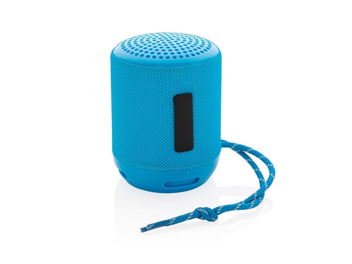 Soundboom wasserdichter 3W kabelloser Lautsprecher blau bedrucken, Art.-Nr. P328.235