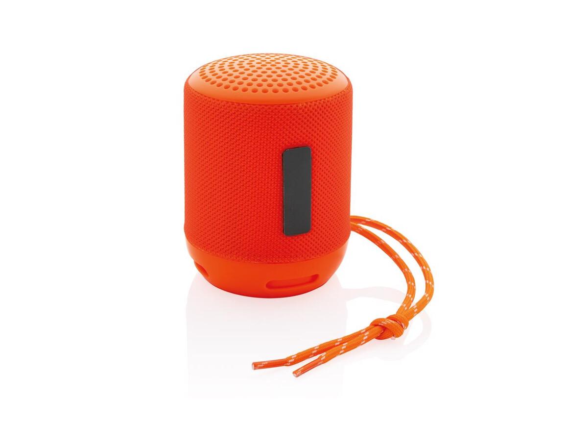 Soundboom wasserdichter 3W kabelloser Lautsprecher orange bedrucken, Art.-Nr. P328.238
