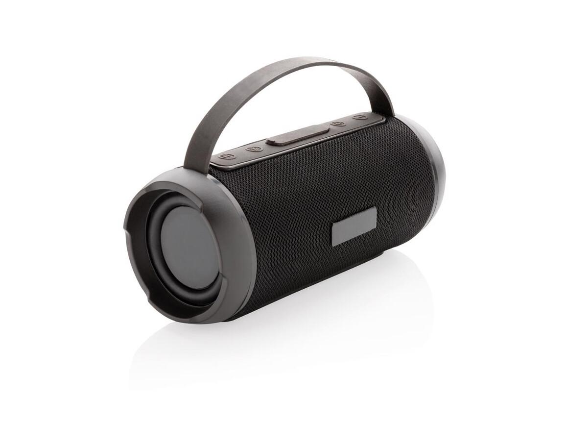 Soundboom wasserdichter 6W kabelloser Lautsprecher schwarz bedrucken, Art.-Nr. P328.241