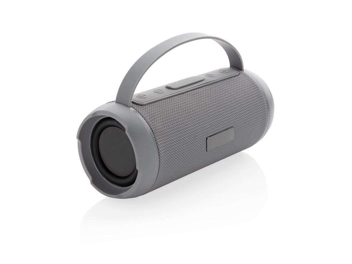 Soundboom wasserdichter 6W kabelloser Lautsprecher grau bedrucken, Art.-Nr. P328.242