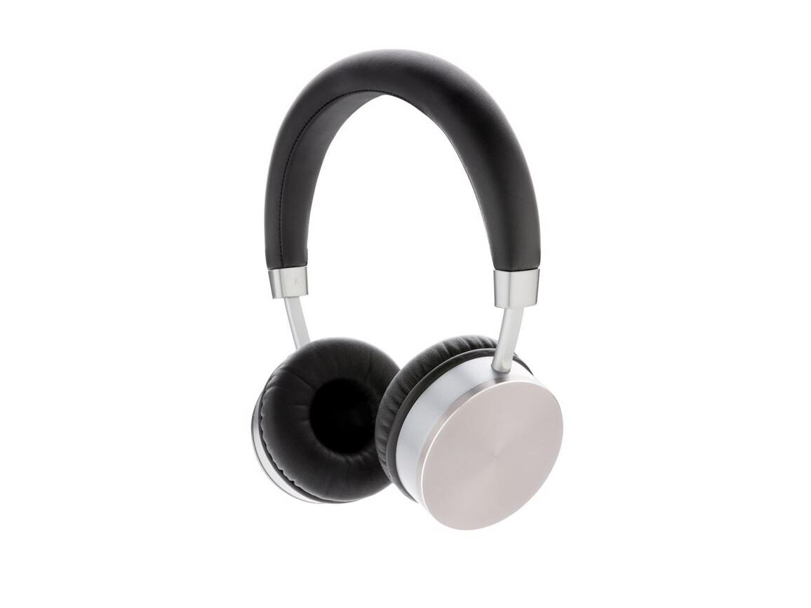 Swiss Peak kabelloser Kopfhörer V2 grau, schwarz bedrucken, Art.-Nr. P328.281