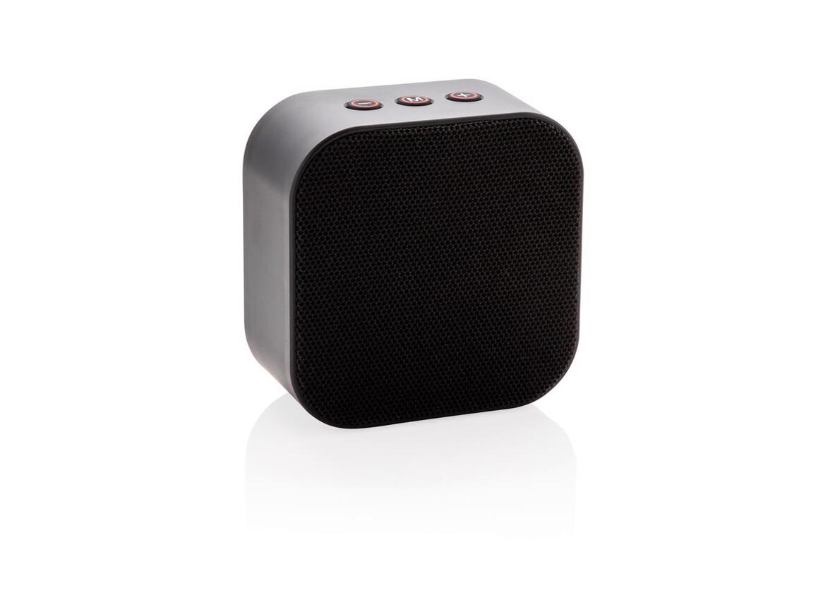 Sub 5W kabelloser Lautsprecher mit Subwoofer schwarz, orange bedrucken, Art.-Nr. P328.311