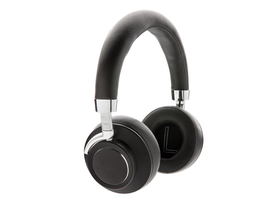 Aria kabelloser Komfort-Kopfhörer schwarz bedrucken, Art.-Nr. P328.681