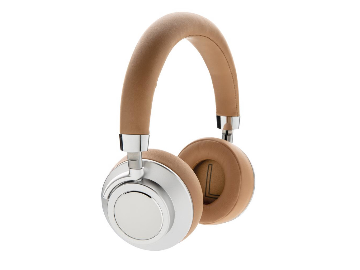 Aria kabelloser Komfort-Kopfhörer braun bedrucken, Art.-Nr. P328.683