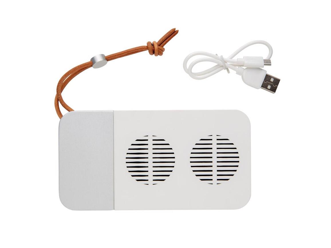 Aria 10W kabelloser Lautsprecher weiß bedrucken, Art.-Nr. P328.693
