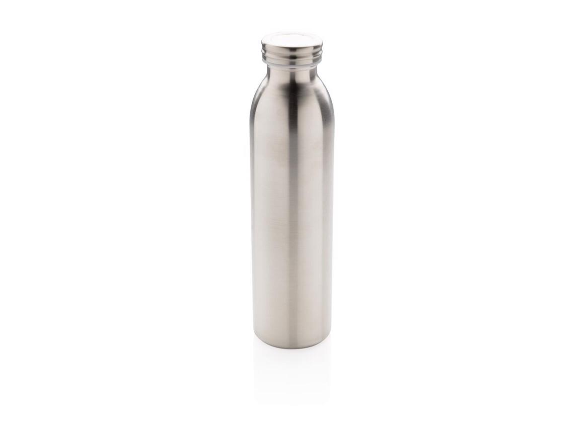 Auslaufgeschützte Kupfer-Vakuum-Flasche silber bedrucken, Art.-Nr. P433.210