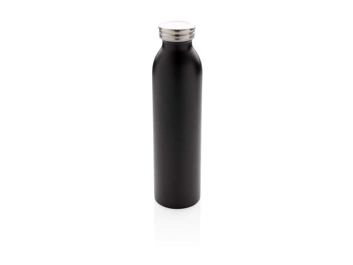 Auslaufgeschützte Kupfer-Vakuum-Flasche schwarz bedrucken, Art.-Nr. P433.211