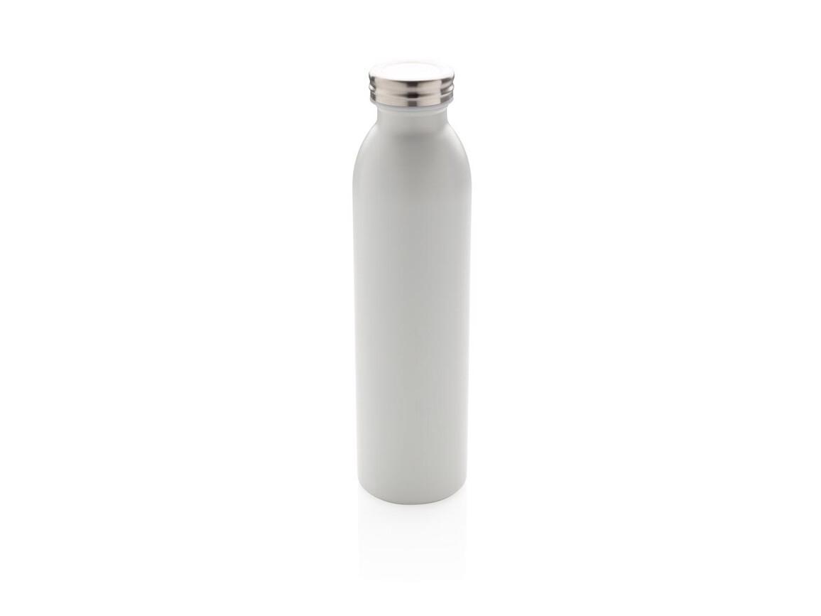 Auslaufgeschützte Kupfer-Vakuum-Flasche weiß bedrucken, Art.-Nr. P433.213