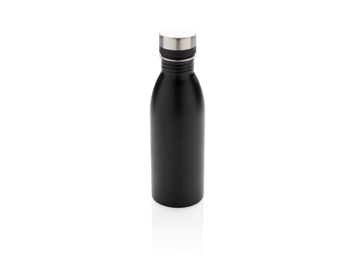Deluxe Wasserflasche schwarz bedrucken, Art.-Nr. P436.411