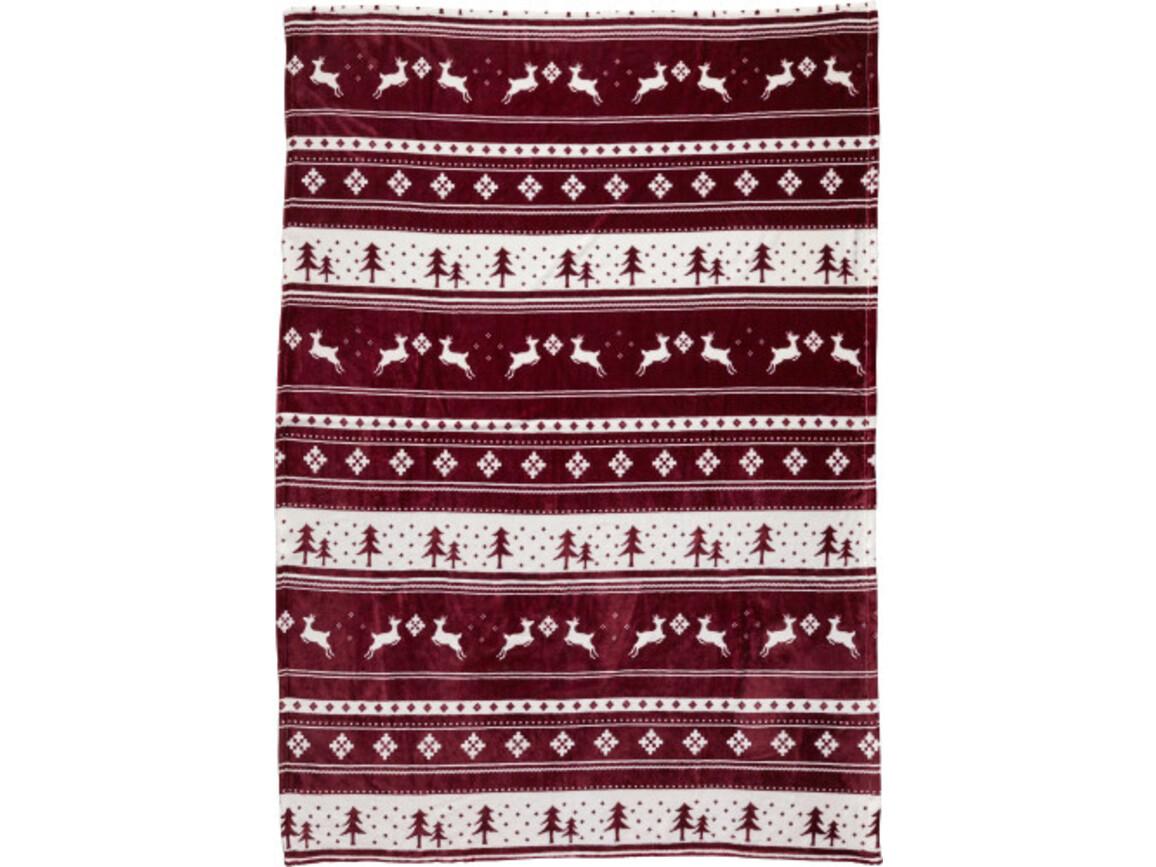 Decke 'Cuddle' aus 100% Polyester und Flanell – Bordeauxrot bedrucken, Art.-Nr. 010999999_8530