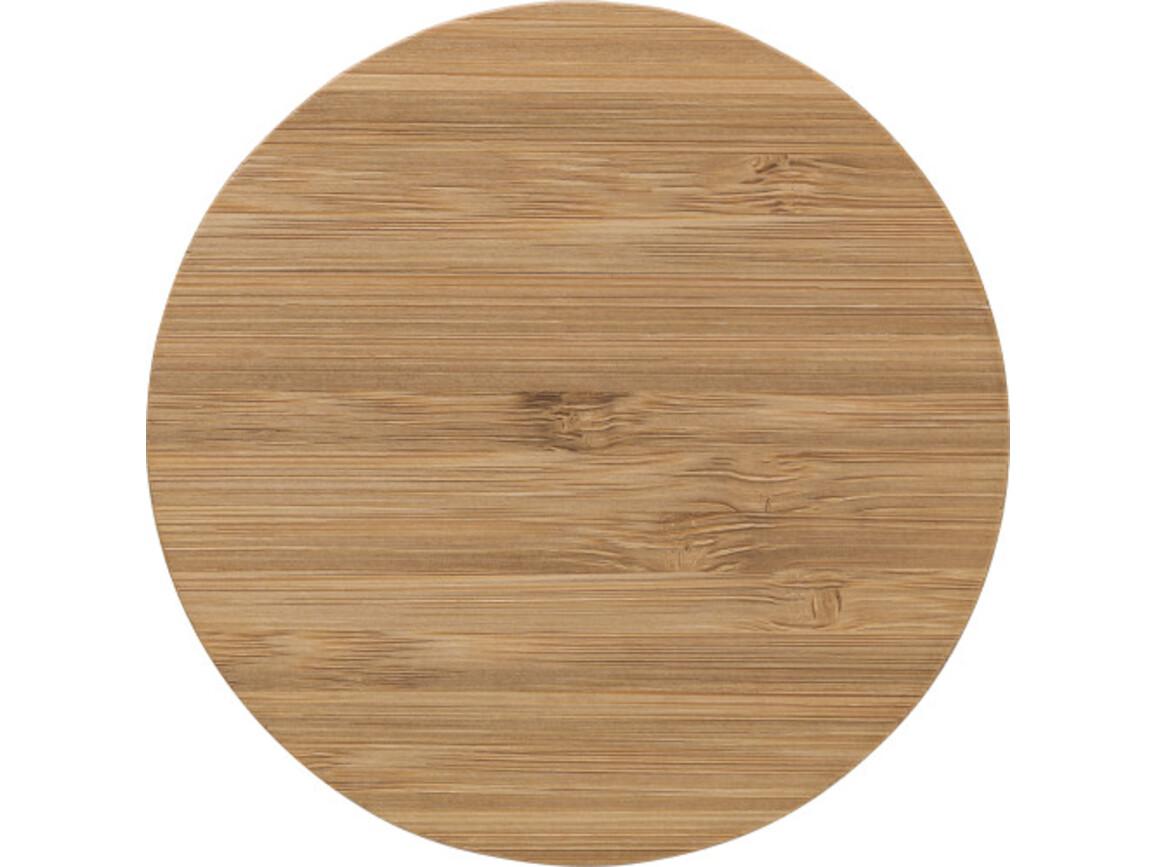 Wireless Ladepad 'Westminster' aus Bambus – Braun bedrucken, Art.-Nr. 011999999_8727