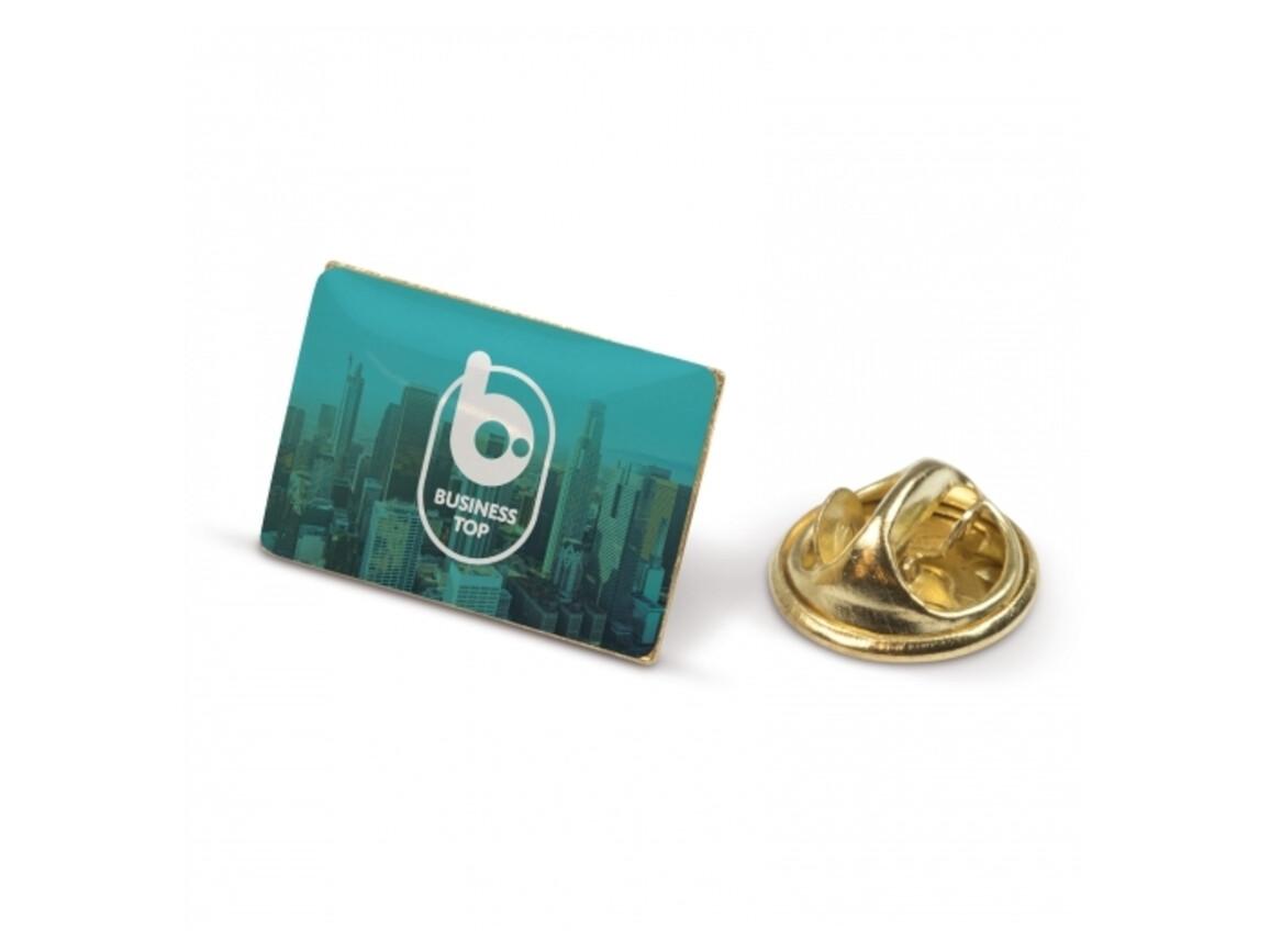 Metall Pin rechteckig - Gold Satin bedrucken, Art.-Nr. LT99737-N0092