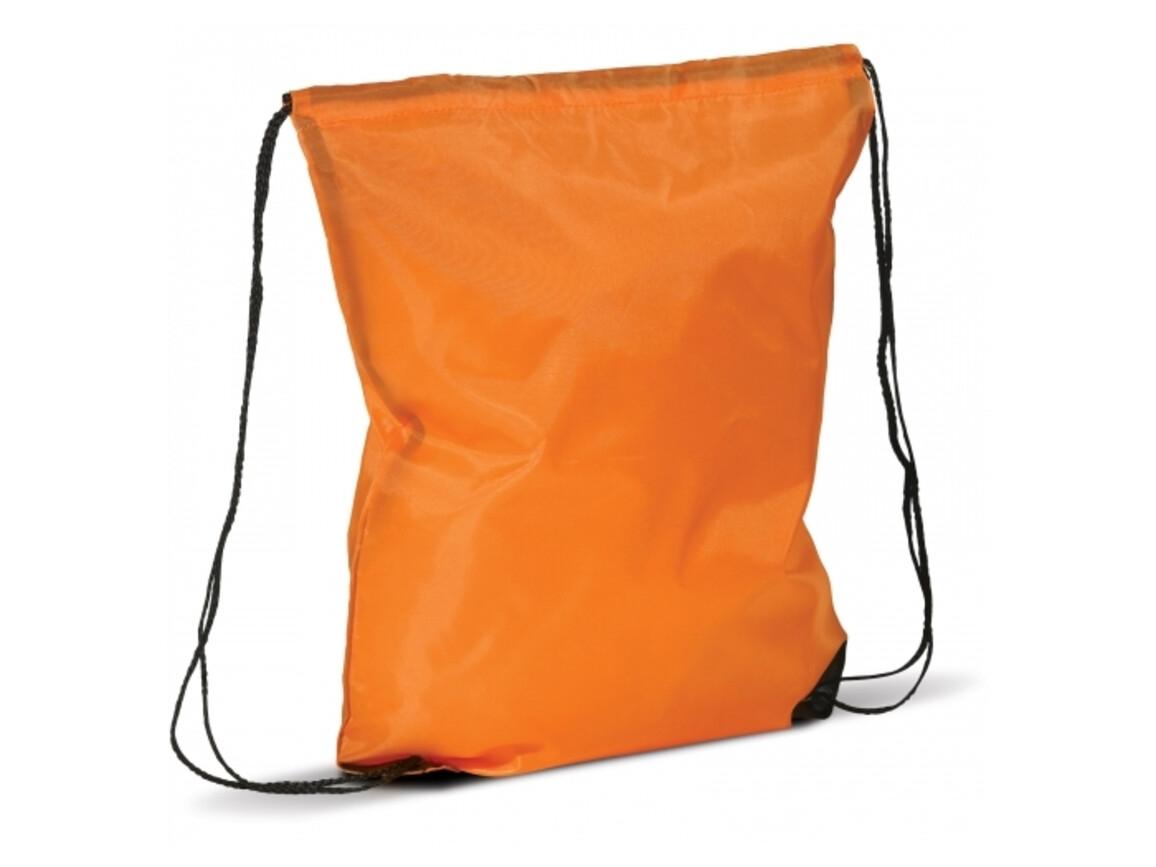 Rucksack aus Polyester 210D - Orange bedrucken, Art.-Nr. LT91397-N0026