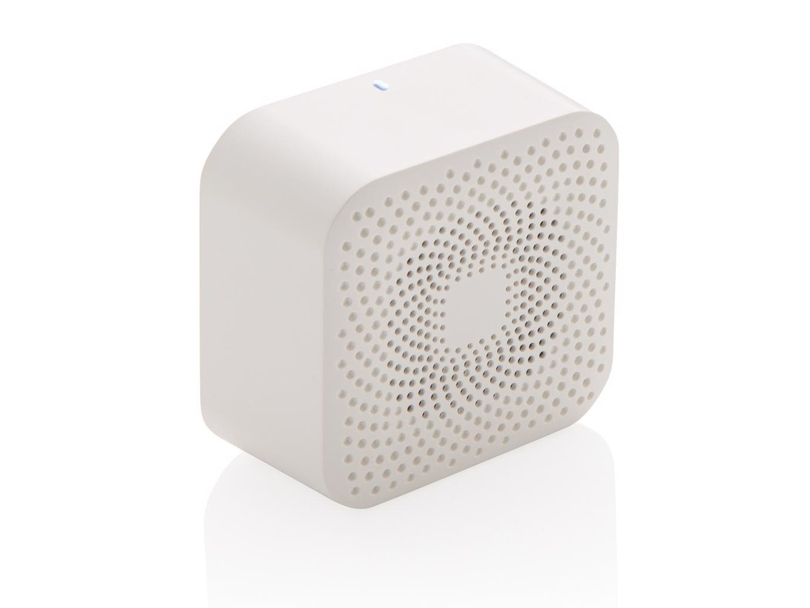 Jersey 3W kabelloser Lautsprecher weiß bedrucken, Art.-Nr. P329.243