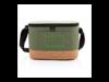 Two-Tone Kühltasche mit Korkdetails grün bedrucken, Art.-Nr. P422.267