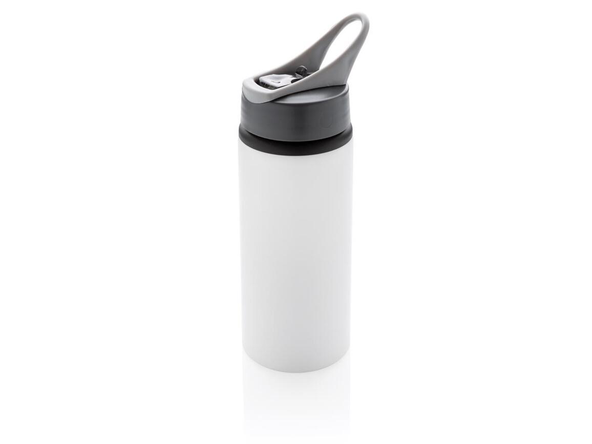 Aluminium Sportflasche weiß bedrucken, Art.-Nr. P436.563