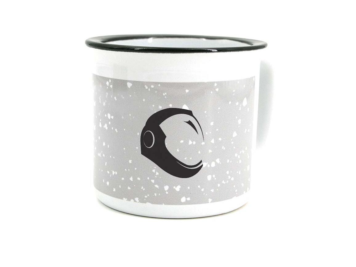 Enamel Mug 400ml white - Keramik bedrucken, Art.-Nr. L8021