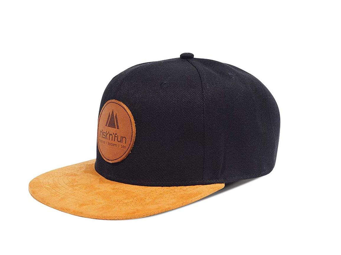 Snapback Cap - inkl. Lederpatch mit Logo als Heißprägung bedrucken, Art.-Nr. L6008