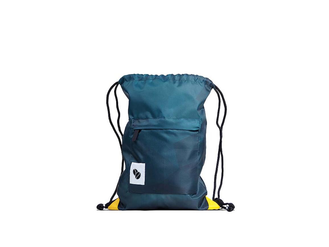 Turnbeutel RPET Polyester 420D - inkl. Frontpocket mit Zipper bedrucken, Art.-Nr. L2004
