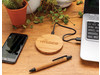 Bambus 5W Wireless Charger braun bedrucken, Art.-Nr. P308.769