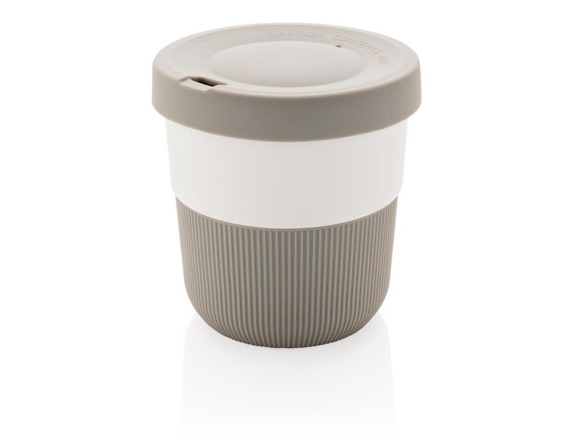 PLA Cup Coffee-To-Go 280ml grau bedrucken, Art.-Nr. P432.892