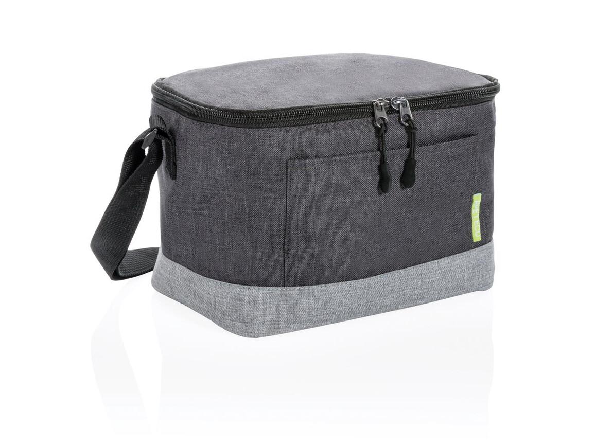 Zweifarbige RPET Kühltasche grau, grau bedrucken, Art.-Nr. P422.282