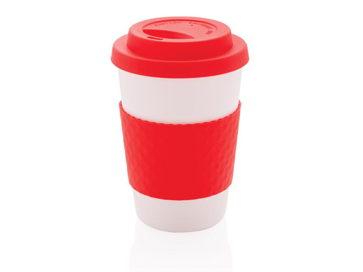 Wiederverwendbarer Kaffeebecher 270ml rot bedrucken, Art.-Nr. P432.674
