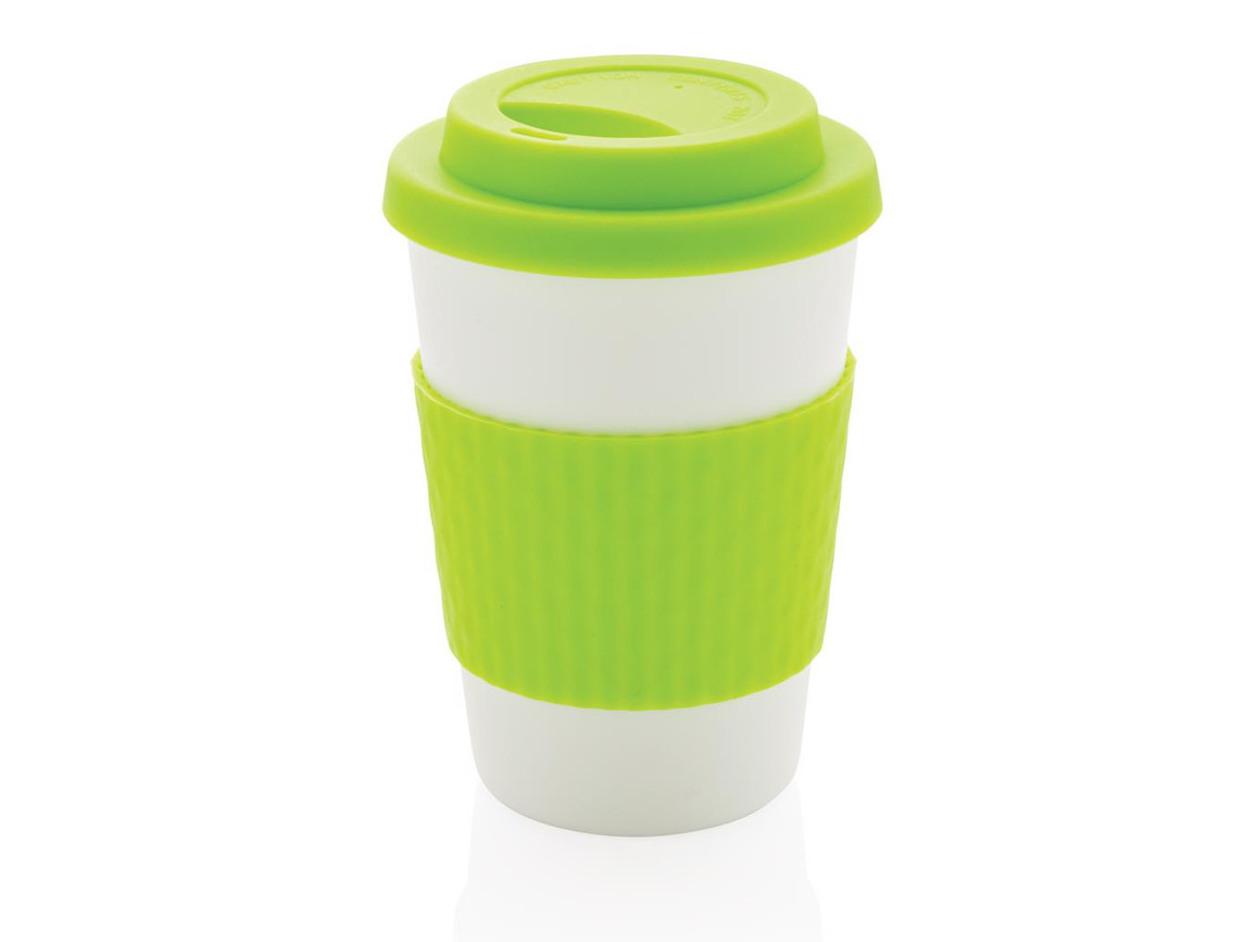 Wiederverwendbarer Kaffeebecher 270ml grün bedrucken, Art.-Nr. P432.677