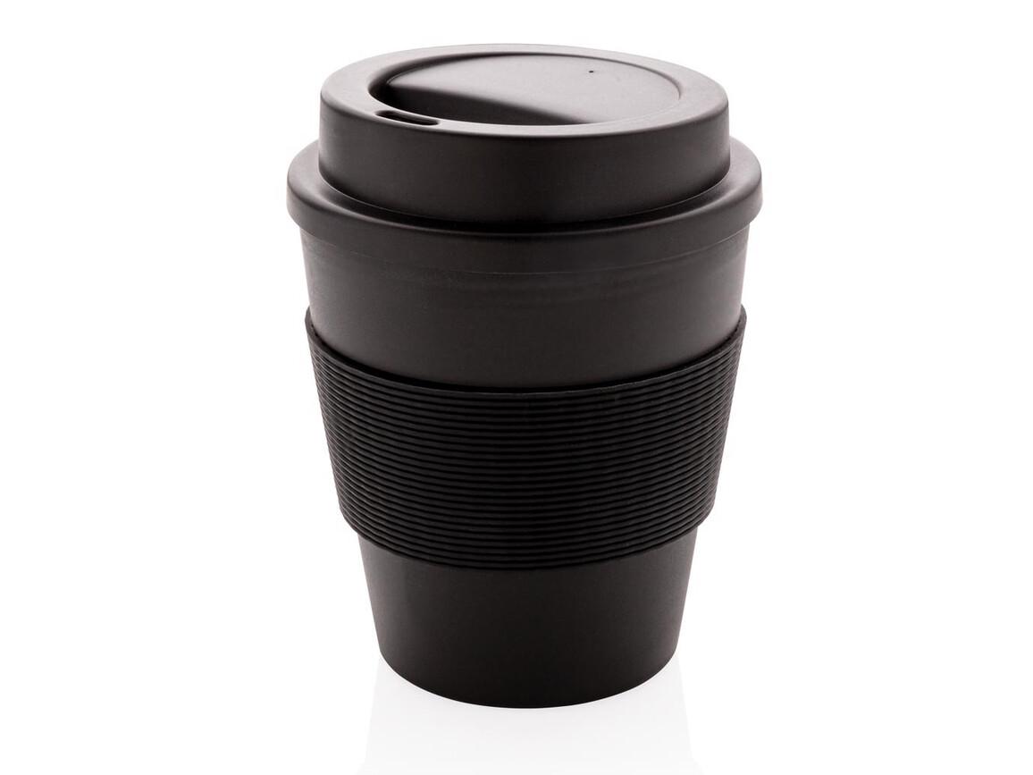 Wiederverwendbarer Kaffeebecher 350ml schwarz bedrucken, Art.-Nr. P432.681